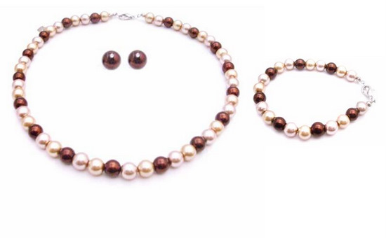 Thrill Yourself W Thrill Pearls Color Burnt Brown Champagne Gold Customize
