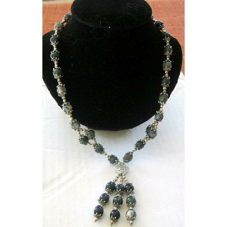 Vintage Exclusive Black Jade Necklace