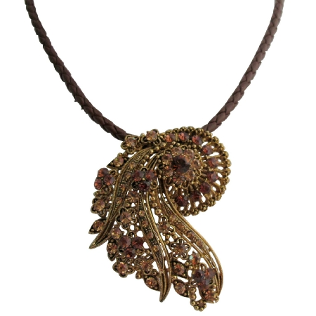 Fine Jewelry Inspired Ancient Style Pendant with Matching Necklace