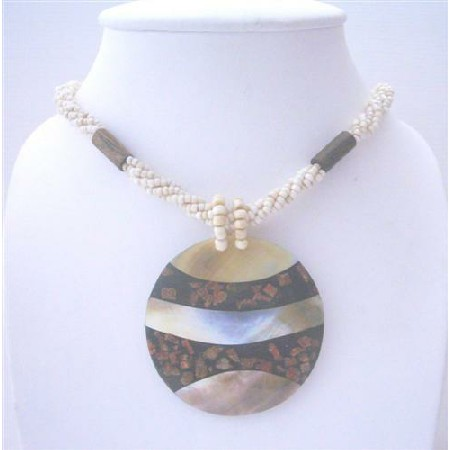 ABalone Resin Shell Pendant Necklace