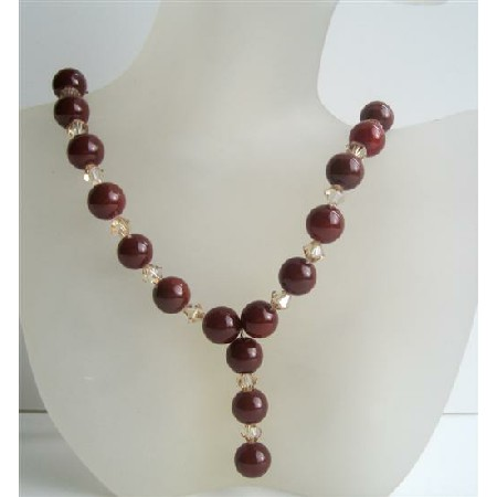 Handcrafted Custom Carnelian Beads Swarovski Ceylon Crystals Necklace