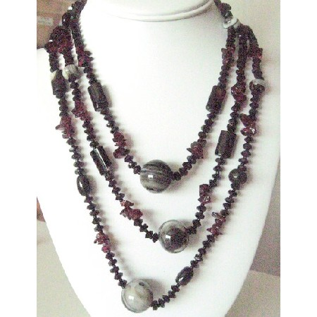 purple other stone i and necklace semi amethyst precious drop pendant handmade