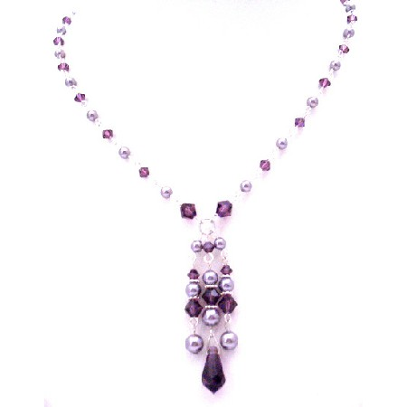 Swarovski Collection Valentine Gift Feburary Crystal Color Jewelry Amethyst Crystals Necklace