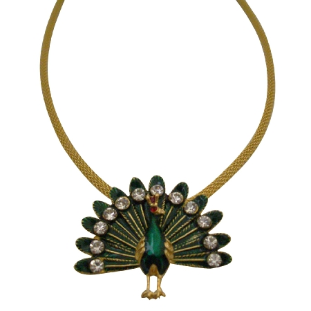 Uniquely Designed Peacock Pendant Necklace