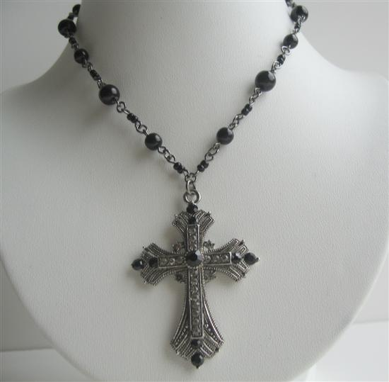black cross necklaces