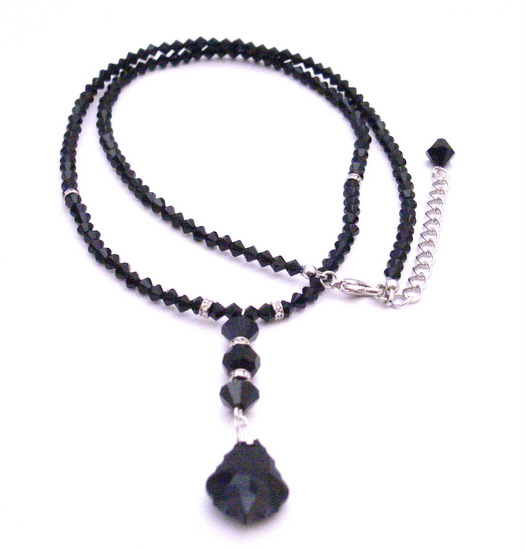 Swarovski Collection Find 24 Inches Long With Back Drop Down Necklace