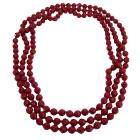 Passionate Romantic Jewelry Red Striking Long Necklace Red Multi Faceted Beads Long Necklace 64 Inches Affordable Price Long Necklace
