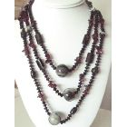 Long Necklace 30 Inch Semi Precious Necklace Onyx Gem Stones Necklace