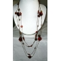 Long chain Brown Bead 2 strands Necklace