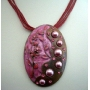 Multi Strands w/ Copper Pendant w/ Shell & Self Painted Necklace