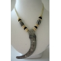Hawai Necklace w/ Curved Pendant & Corded Necklace