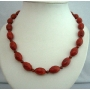 Genuine Bamboo Coral Red Oval Beads Handcrafted Coral Beads Ethnic Necklace