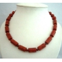 Genuine Coral Red Cylindrical Beads New & Latest Beads Handcrafted Fine Jewelry Necklace
