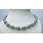 Genuine 100% Nature 10mm Green Turquoise Necklace Round Beads w/ Bali Silver