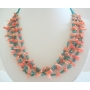 Turquoise & Angel Skin Bamboo Coral Necklace w/ Sterling Silver Gemstones Beads Jewelry Necklace