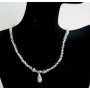 Swarovski Moonlite Crystal Necklace w/ CZ Tear Drop Jewelry