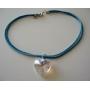 Romantic Jewelry Swarovski AB 28mm Heart Crystals Necklace