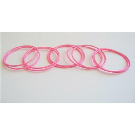 Glamorous Bracelet Pink Bangles 10 Bangles Just For $1