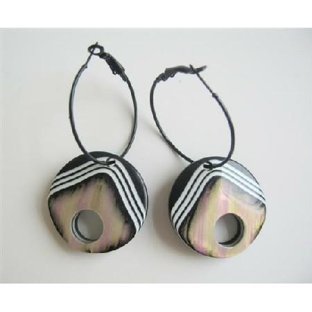 Ethnic Traditional Self Designed Hoop Earrings