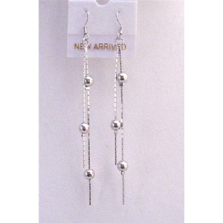 Dollar Earrings Chandelier Earrings w/ 2 1/2 Inches Long Earrings