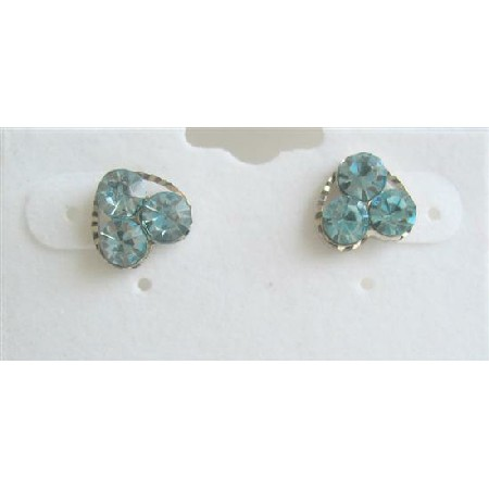 Aquamarine Flower Earrings Earrings