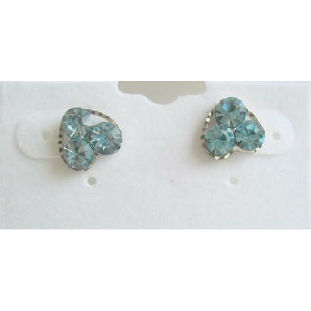 Aquamarine Flower Earrings Earrings