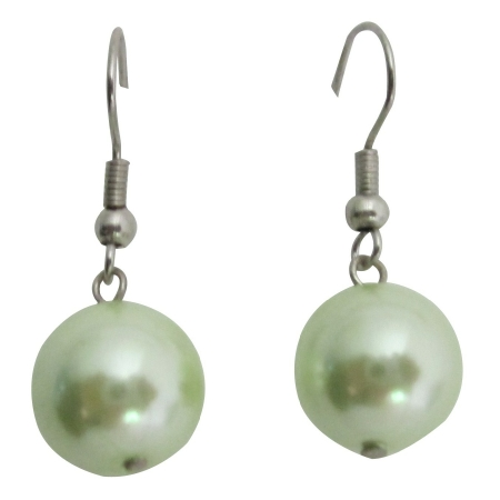 Fancy Light Green Earrings Earrings