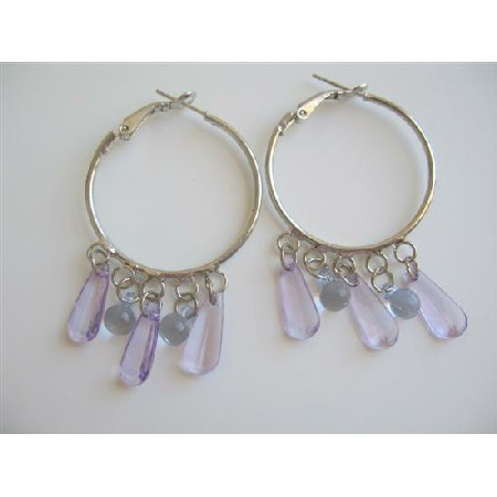Hoop Chandelier Lite Purple Glamour Earrings