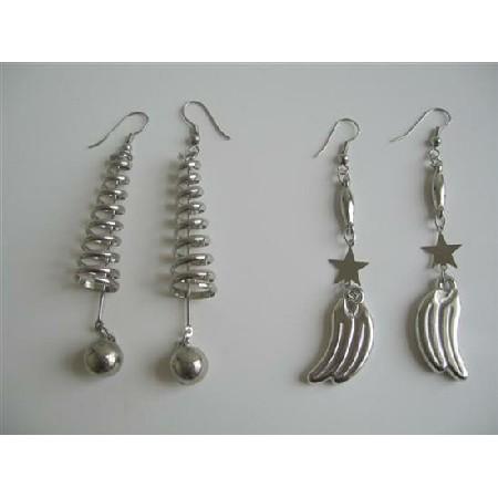 Elegant Glamorous Alloy Metal Earrings in Silver Color