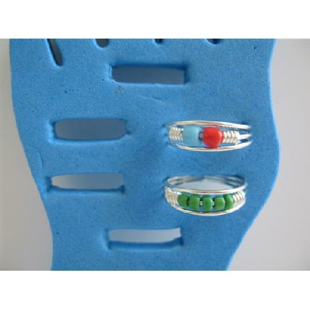 Funky Toe Rings Classy Colored Rings