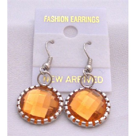 Stunning Fire Orange Earrings