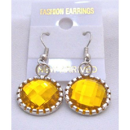 Earrings Bright Topaz Simulated Crystals Earrings