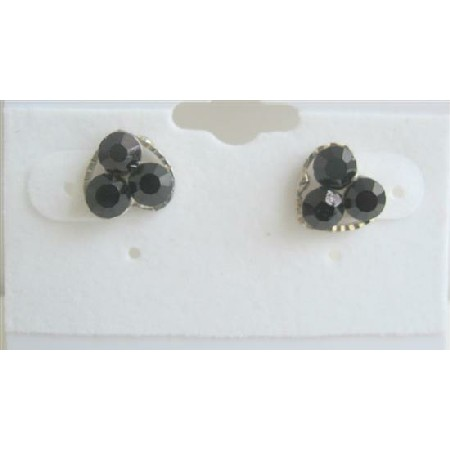 Fun Wearing Black Flower Simple Design Beautiful Earrings For All Ages