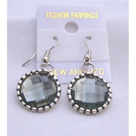 Crystals Earrings Black Diamond Simulated Crystals Earring