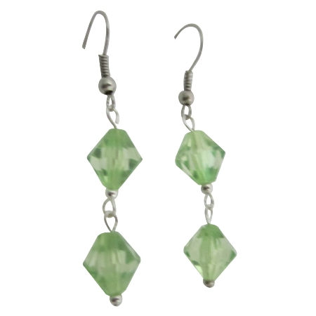 Cheap Earrings Jewelry Simulated Crystals Peridot Dollar Earrings
