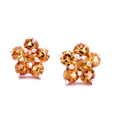 Charitable Jewelry Return Gift Lite Colorado Flower Stud Earrings