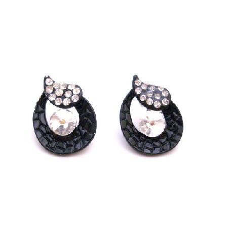 Fancy Stud Earrings Cubic Zircon Diamante Earrings Return Gift