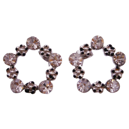 Elegant Style Pentagon Shaped Stud Earring