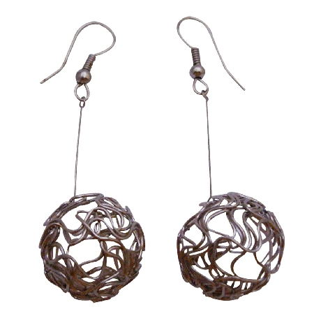 Designer Earring In Incredible Price Dangling Ball Earrings
