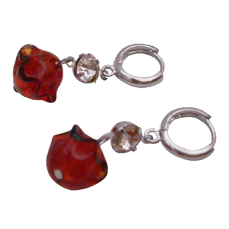 Inexpensive & Trendy Design Red Bead Earrings