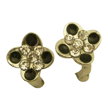 Flower Shaped Earrings w/ Ring Hook Dangling Earrings