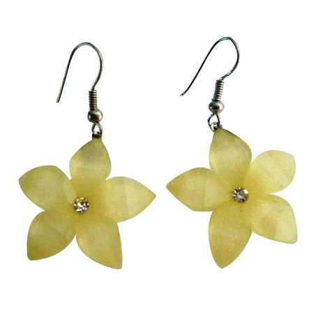 Gift Item Holidays Sale Earring Pale Yellow Flower