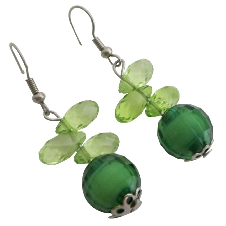 Girls Return Gifts for Kids Birthday Green Teardrop Jewelry
