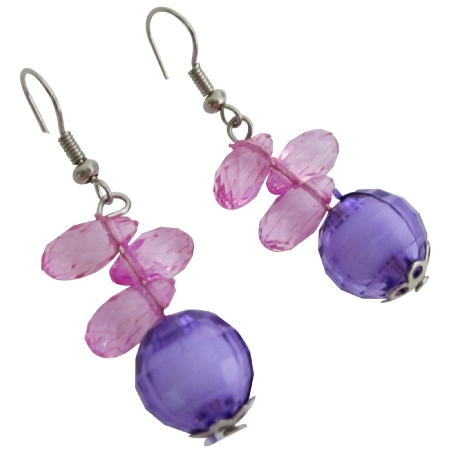 Fun Little Girls Jewelry Wedding Flower Girls Gift Earrings
