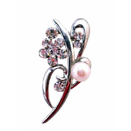 Affordable for Bridesmaid Gifts Freshwater Pearls Wedding Brooch