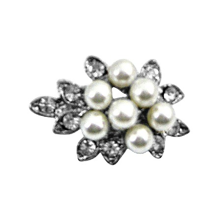 Tiny Bouquet Pearl Dainty Affordable Beautiful Cheap Brooch Pin Gift