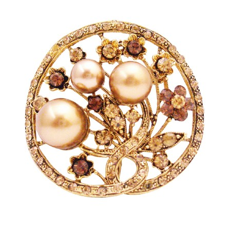 Fun Wear Diversions Gifts Unique Christmas Gifts Bronze Pearls Brooch