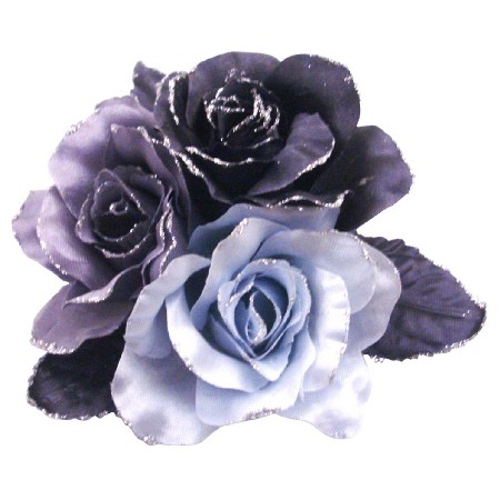 Fabric Flowers Brooches For Bridesmaid Dresses & For Hair Pin Flower