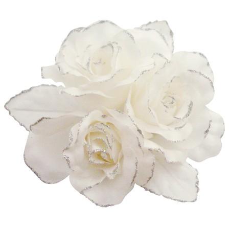 FashionJewelryForEveryone.com B537 Pure White Satin Handmade Flower Brooch For Beautiful Wedding Dress Brooch at Sears.com