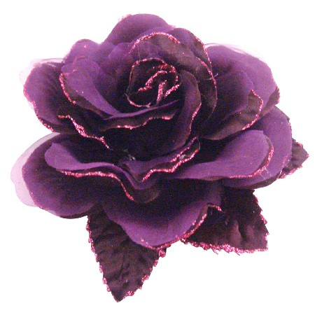 Multi Layered In Purple Organza Flower Brooch For Dresses Classy Style